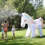 Ourdoor Garden Children Inflatable Water Spraying Unicorn Toys