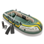 INTEX 68380 Inflatable Rowing Boat for 3 people with Oars&Pump, Size: 295x137x43cm