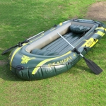 INTEX 68351 Inflatable Rowing Boat for 4 people with Oars, Size: 351x145x48cm