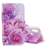 Rose Pattern Horizontal Flip Leather Case for Xiaomi Mi Play, with Holder & Card Slots & Wallet