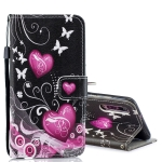 Peach Heart Pattern Horizontal Flip Leather Case for Xiaomi Mi 9, with Holder & Card Slots & Wallet