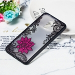 Small Lotus Pattern Embossed Lace + PC Case for Xiaomi Pocophone F1