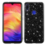 Glitter Powder Shockproof TPU Protective Case for Xiaomi Redmi 7 (Black)