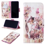 3D Colored Drawing Cat Pattern Horizontal Flip Leather Case for Xiaomi Redmi Note 7 / Redmi Note 7 Pro, with Holder & Card Slots & Wallet