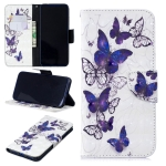 3D Colored Drawing Butterflies Pattern Horizontal Flip Leather Case for Xiaomi Redmi Note 7 / Redmi Note 7 Pro, with Holder & Card Slots & Wallet