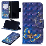 3D Colored Drawing Butterfly Pattern Horizontal Flip Leather Case for Xiaomi Redmi Note 7 / Redmi Note 7 Pro, with Holder & Card Slots & Wallet