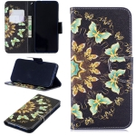 Colored Drawing Semicircular Butterfly Pattern Horizontal Flip Leather Case for Xiaomi Redmi Note 7 / Redmi Note 7 Pro, with Holder & Card Slots & Wallet