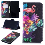 Colored Drawing Flamingo Pattern Horizontal Flip Leather Case for Xiaomi Redmi Note 7 / Redmi Note 7 Pro, with Holder & Card Slots & Wallet