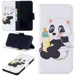 Colored Drawing Bottle Panda Pattern Horizontal Flip Leather Case for Xiaomi Redmi Note 7 / Redmi Note 7 Pro, with Holder & Card Slots & Wallet