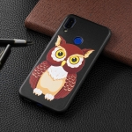 Embossed Painted Owl Pattern TPU Case for Xiaomi Redmi Note 7 / Redmi Note 7 Pro