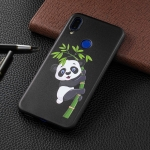 Embossed Painted Panda and Bamboo Pattern TPU Case for Xiaomi Redmi Note 7 / Redmi Note 7 Pro