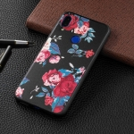 Embossed Painted Red Flower Pattern TPU Case for Xiaomi Redmi Note 7 / Redmi Note 7 Pro