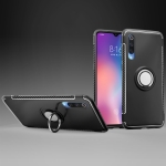 Magnetic 360 Degree Rotation Ring Holder Armor Protective Case for Xiaomi 9 (Black)