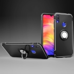 Magnetic 360 Degree Rotation Ring Holder Armor Protective Case for Xiaomi Note 7 (Black)