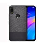 Shockproof Splicing PU + Cloth Protective Case for Xiaomi Redmi 7 (Black)