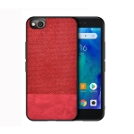 Shockproof Splicing PU + Cloth Protective Case for Xiaomi Redmi Go (Red)