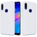 Solid Color Liquid Silicone Shockproof Full Coverage Case for Xiaomi Redmi 7(White)