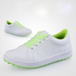 PGM Golf Microfiber Leather Breathable Sneakers for Women (Color:White Size:34)
