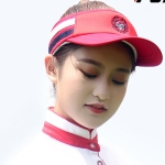 PGM Golf Comfortable and Breathable Topless Cap Casual Sports Sunhat for Women (Red)