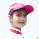 PGM Golf Comfortable and Breathable Topless Cap Casual Sports Sunhat for Women (Rose Red)