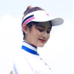 PGM Golf Comfortable and Breathable Topless Cap Casual Sports Sunhat for Women (White)