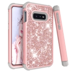 Glitter Contrast Color Silicone + PC Shockproof Case for Galaxy S10e