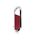MicroDrive 128GB USB 2.0 Creative Carabiner Metal USB Flash Drives U Disk (Red)