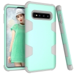 Contrast Color Silicone + PC Shockproof Case for Galaxy S10 (Mint Green)
