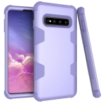 Contrast Color Silicone + PC Shockproof Case for Galaxy S10 (Purple)