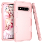 Contrast Color Silicone + PC Shockproof Case for Galaxy S10 (Rose Gold)