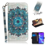 3D Colored Drawing Peacock Wreath Pattern Horizontal Flip Leather Case for Asus Zenfone Max (M2) ZB633KL, with Holder & Card Slots & Wallet