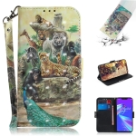 3D Colored Drawing Animals Pattern Horizontal Flip Leather Case for Asus Zenfone Max (M2) ZB633KL, with Holder & Card Slots & Wallet