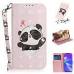3D Colored Drawing Heart Panda Pattern Horizontal Flip Leather Case for Asus Zenfone Max (M2) ZB633KL, with Holder & Card Slots & Wallet