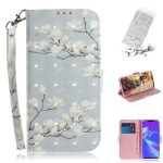 3D Colored Drawing Magnolia Pattern Horizontal Flip Leather Case for Asus Zenfone Max (M2) ZB633KL, with Holder & Card Slots & Wallet