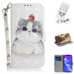 3D Colored Drawing Cute Cat Pattern Horizontal Flip Leather Case for Asus Zenfone Max (M2) ZB633KL, with Holder & Card Slots & Wallet