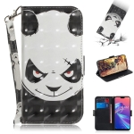 3D Colored Drawing Angry Bear Pattern Horizontal Flip Leather Case for Asus Zenfone Max Pro (M2) ZB631KL, with Holder & Card Slots & Wallet