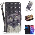 3D Colored Drawing Hug Cat Pattern Horizontal Flip Leather Case for Asus Zenfone Max Pro (M2) ZB631KL, with Holder & Card Slots & Wallet