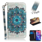 3D Colored Drawing Peacock Wreath Pattern Horizontal Flip Leather Case for Asus Zenfone Max Pro (M2) ZB631KL, with Holder & Card Slots & Wallet