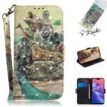 3D Colored Drawing Animals Pattern Horizontal Flip Leather Case for Asus Zenfone Max Pro (M2) ZB631KL, with Holder & Card Slots & Wallet