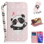 3D Colored Drawing Heart Panda Pattern Horizontal Flip Leather Case for Asus Zenfone Max Pro (M2) ZB631KL, with Holder & Card Slots & Wallet