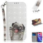3D Colored Drawing Dog Pattern Horizontal Flip Leather Case for Asus Zenfone Max Pro (M2) ZB631KL, with Holder & Card Slots & Wallet