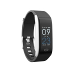 B11 0.96 inches IPS Color Screen Smart Bracelet IP67 Waterproof, Support Call Reminder /Heart Rate Monitoring /Blood Pressure Monitoring /Sleep Monitoring / Sedentary Reminder (Black)