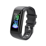 C21 1.14 inches IPS Color Screen Smart Bracelet IP67 Waterproof, Support Call Reminder /Heart Rate Monitoring /Blood Pressure Monitoring /Sleep Monitoring / Sedentary Reminder / Female Physiological Reminder (Black)