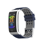 E08 0.96 inches OLED Color Screen Smart Bracelet IP67 Waterproof, Support Call Reminder /Heart Rate Monitoring /Sleep Monitoring /Blood Pressure Monitoring /Electrocardiogram Diaplay (Gray Blue)