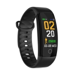QS01 0.96 inches TFT Color Screen Smart Bracelet IP67 Waterproof, Support Call Reminder /Heart Rate Monitoring /Sleep Monitoring /Blood Pressure Monitoring /Sedentary Reminder (Black)