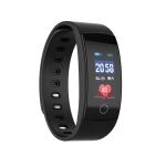 QS80 Plus 0.96 inches TFT Color Screen Smart Bracelet IP67 Waterproof, Support Call Reminder /Heart Rate Monitoring /Sleep Monitoring /Blood Pressure Monitoring /Sedentary Reminder (Black)