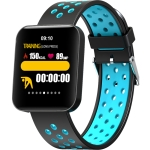 S88 1.54 inches TFT Color Screen Smart Bracelet IP67 Waterproof, Silicone Watchband,  Support Call Reminder /Heart Rate Monitoring /Sleep Monitoring /Sedentary Reminder /Blood Pressure Monitoring(Blue)