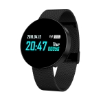 Z8 0.96 inches TFT Color Screen Smart Bracelet IP67 Waterproof, Steel Watchband, Support Call Reminder /Heart Rate Monitoring /Sleep Monitoring /Sedentary Reminder /Blood Pressure Monitoring (Black)