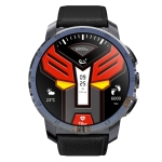 Kospet Optimus 4G 2GB+16GB MT6739 IP67 Waterproof 1.39-inch Ceramic bezel Smart Watch with Detachable Silicone Leather Strap, Amoled Display, Support Dual System& Heart Rate Monitoring (Black)