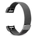 Smart Watch Stainless Steel Wrist Strap Watchband for FITBIT Charge 2(Black)
